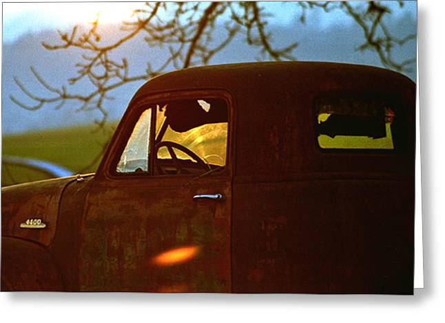 Retirement For An Old Truck Greeting Card by Jean Noren