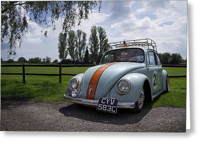 Retro Beetle 1 Greeting Card by Dan Livingstone