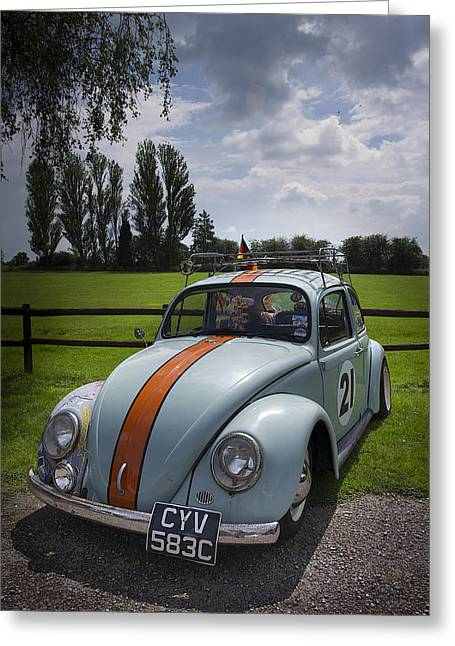 Retro Beetle 4 Greeting Card by Dan Livingstone