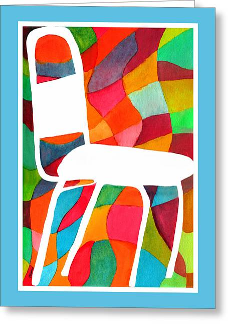 Retro Dinette Chair Greeting Card by Paula Ayers