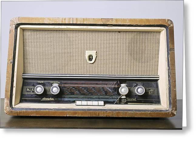 Retro Hi-fi Minerphon Radio Receiver Greeting Card