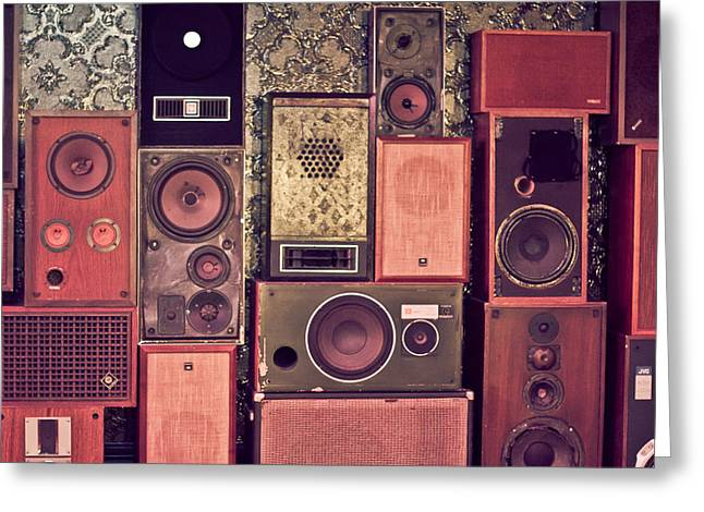 Retro Speakers Greeting Card