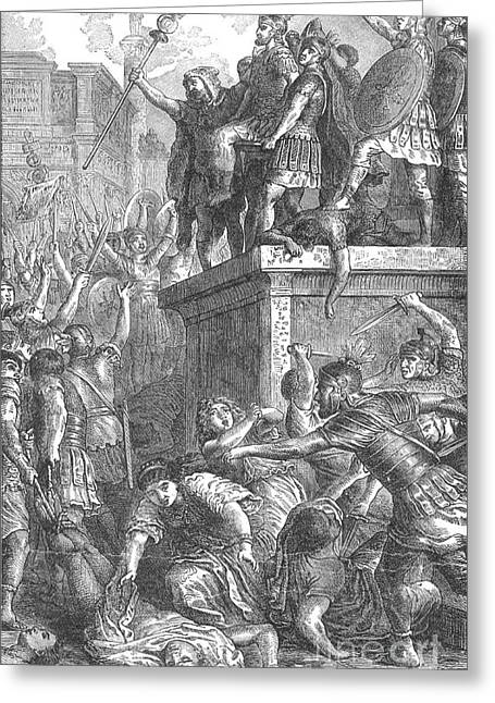 Revolt Of The Praetorian Guards, 69 Ad Greeting Card