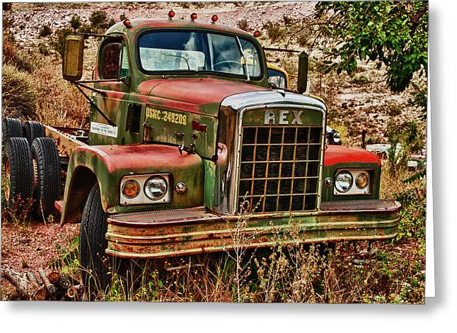 Rex The Truck Greeting Card by James Bethanis