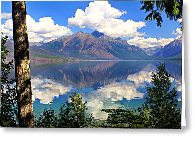 Rflection On Lake Mcdonald Greeting Card by Marty Koch