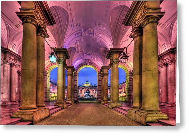 Rhapsody In Pink Greeting Card by Evelina Kremsdorf