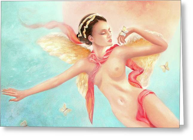 Greeting Card featuring the painting Rhapsody by Michael Rock