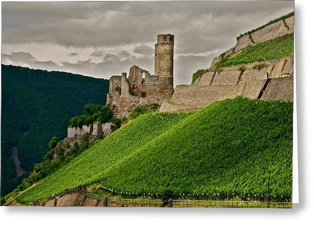 Greeting Card featuring the photograph Rhine River Medieval Castle by Kirsten Giving