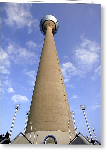 Rhine Tower, Dusseldorf, Germany Greeting Card