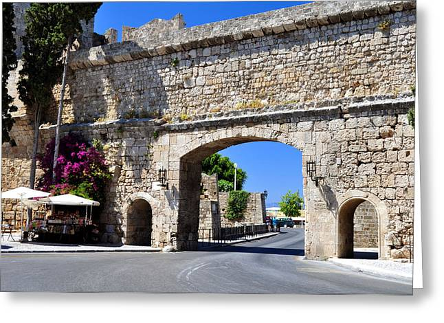 Rhodes Old Town. Greeting Card by Fernando Barozza