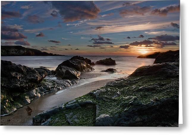 Rhosneigr Sunset  Greeting Card