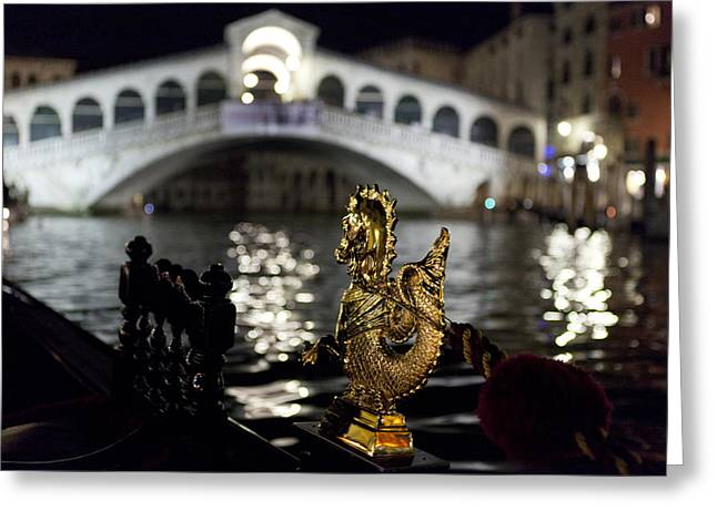 Rialto Bridge From Gondola Greeting Card