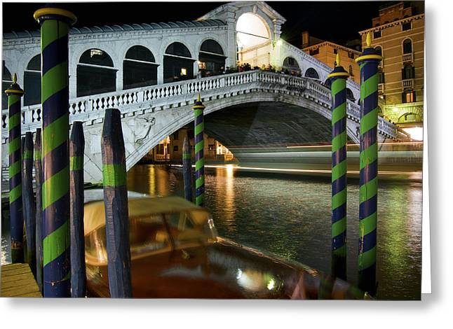 Rialto Bridge Over The Grand Canal Greeting Card by Jim Richardson