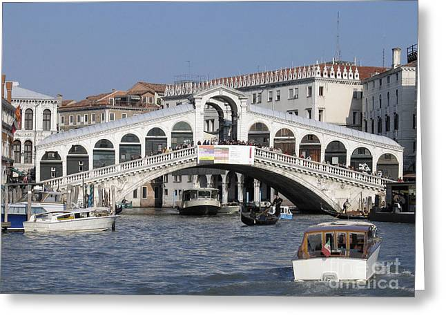 Rialto.venice Greeting Card by Bernard Jaubert