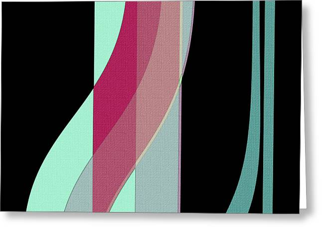 Ribbons Greeting Card by Bonnie Bruno