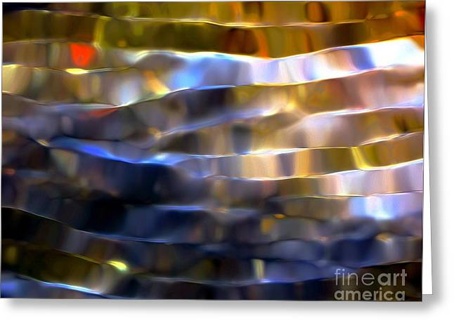 Ribbons Of Light Greeting Card