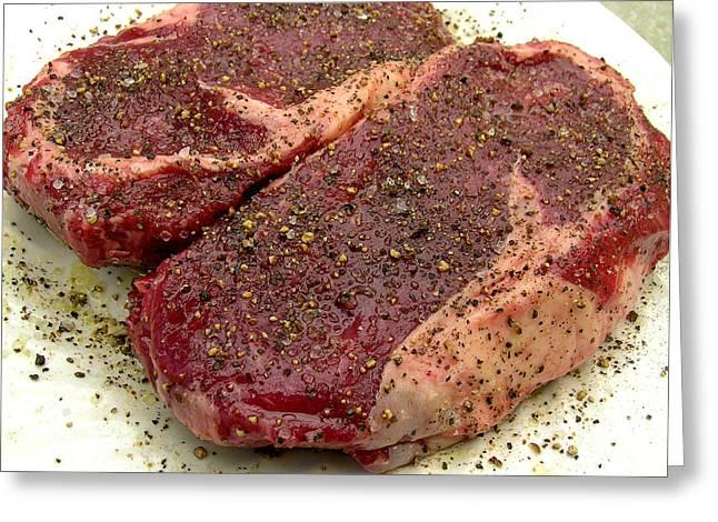 Ribeye Steak... Carnivore Eye Candy Greeting Card by James Temple