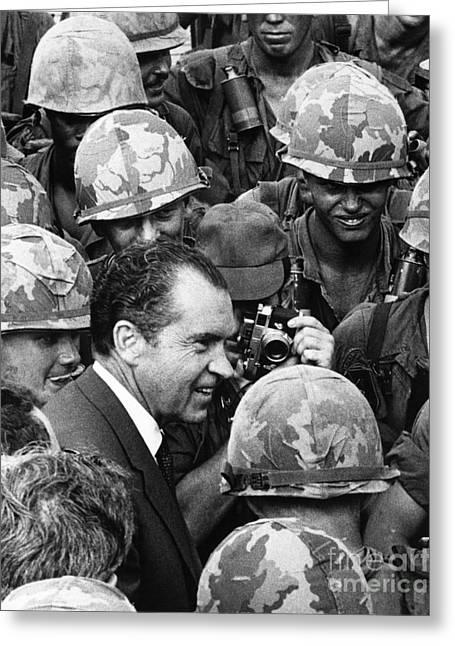Richard Nixon, 37th American President Greeting Card by Photo Researchers