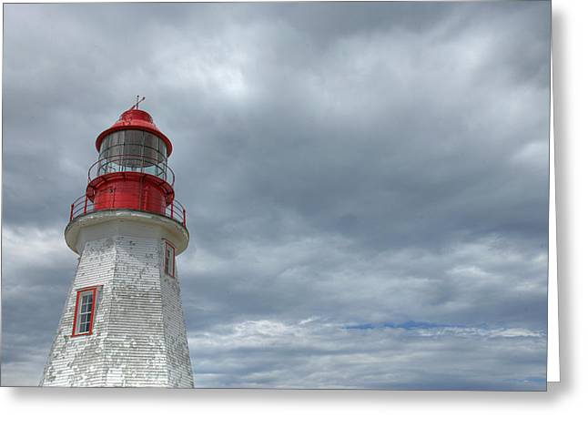 Riche Lighthouse, Port Au Choix Greeting Card by Robert Postma