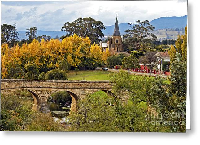 Richmond Bridge Greeting Card by Raoul Madden