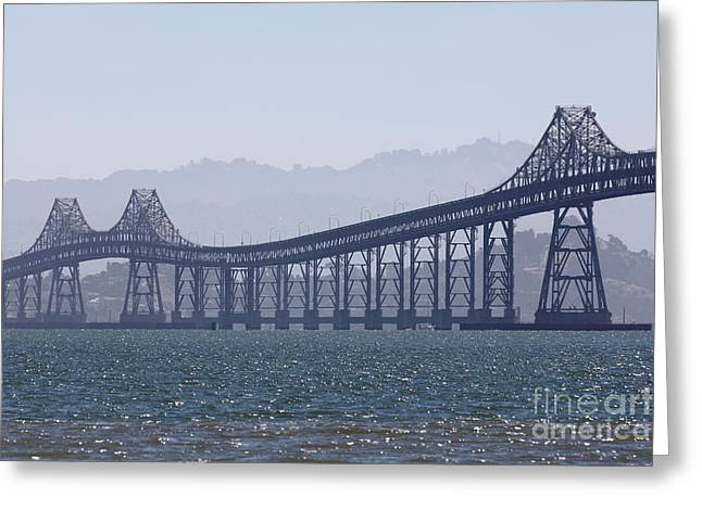 Richmond-san Rafael Bridge In California - 5d18441 Greeting Card