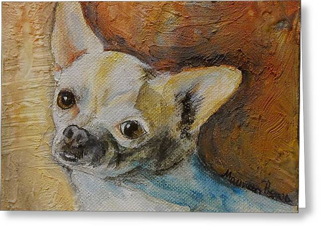 Rico Blue Chihuahua Greeting Card