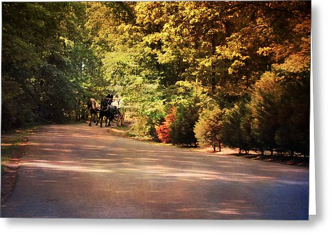 Ride At Timbers Farm Greeting Card by Jai Johnson