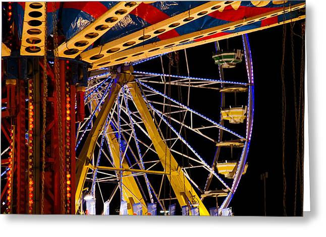 Greeting Card featuring the photograph Rides by Michael Friedman