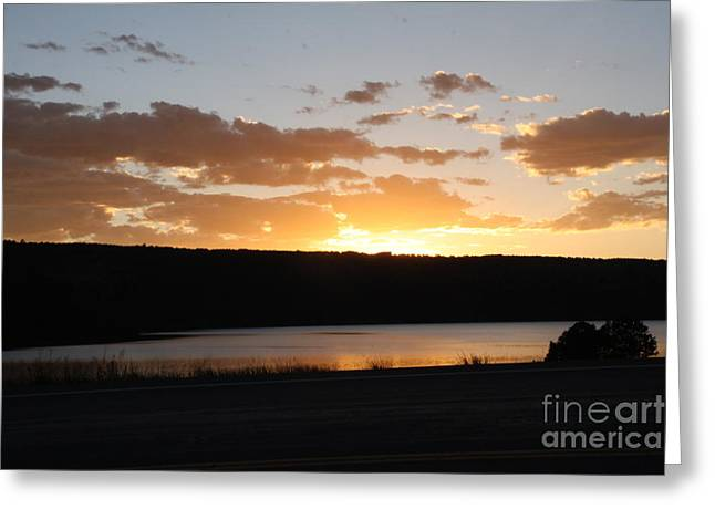 Greeting Card featuring the photograph Ridgway Reservoir Sunset by Marta Alfred
