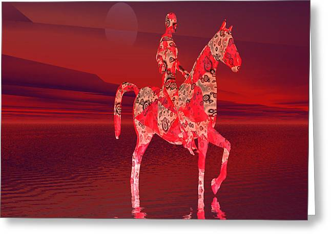 Riding At Dusk Greeting Card by Matthew Lacey