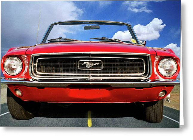 Riding In Style Greeting Card by Gary Adkins