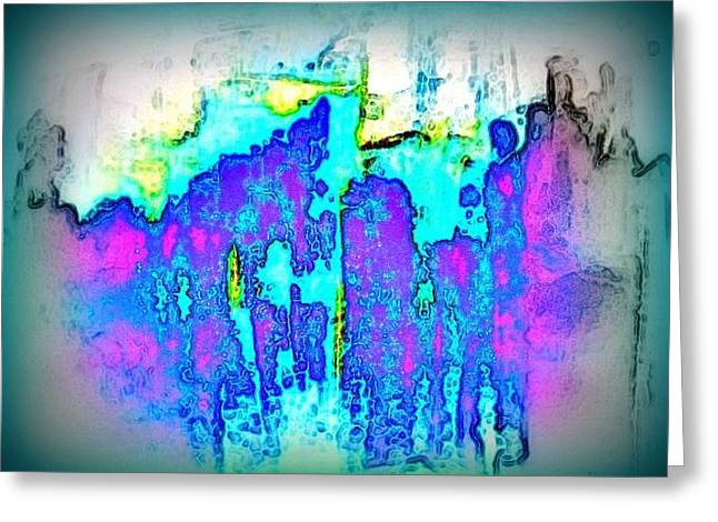 Riding The Color Wave Greeting Card by Wendy Wiese
