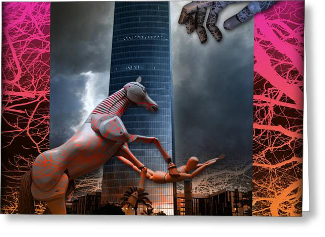 Greeting Card featuring the photograph Riding  The Phallus Dream by Rosa Cobos