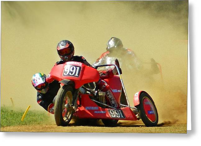 Right Hand Sidecar Greeting Card by Sharon Lisa Clarke