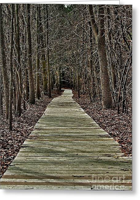 Right Path Greeting Card by Gregory Dragan