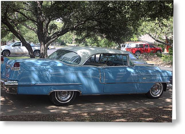 Right View 1956 Cadillac Greeting Card by Linda Phelps