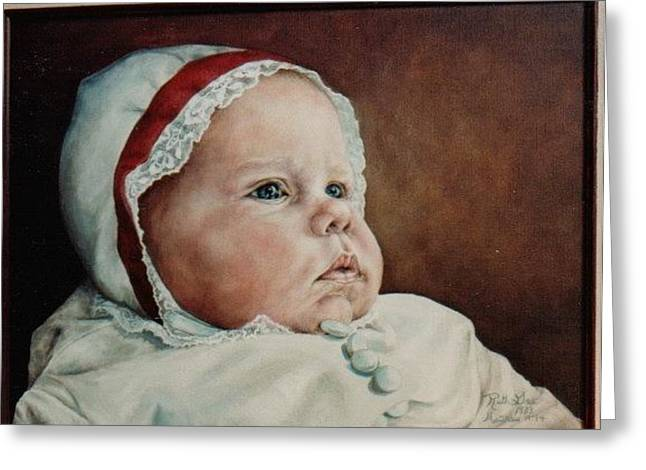 Rigmore's Baby Greeting Card by Ruth Gee