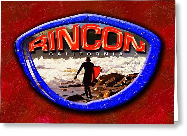 Rincon Logo Greeting Card by Ron Regalado