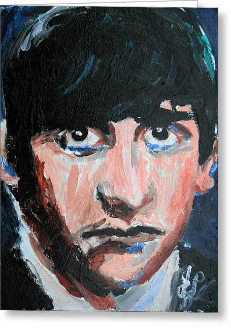 Ringo Starr  Greeting Card by Jon Baldwin  Art