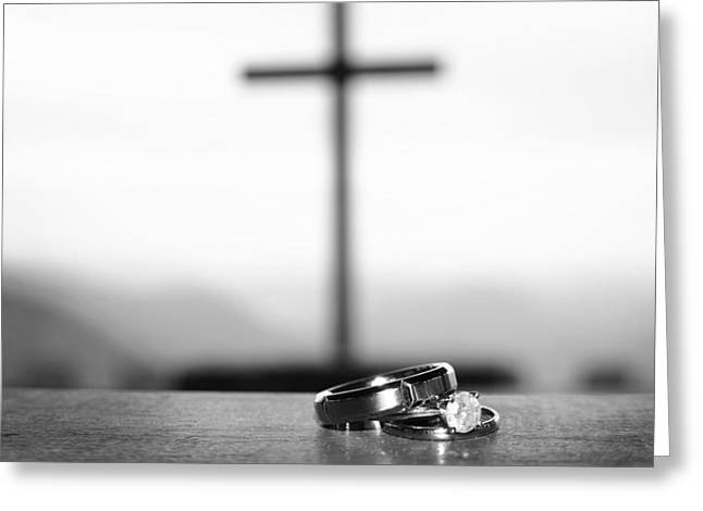 Rings And Cross Greeting Card