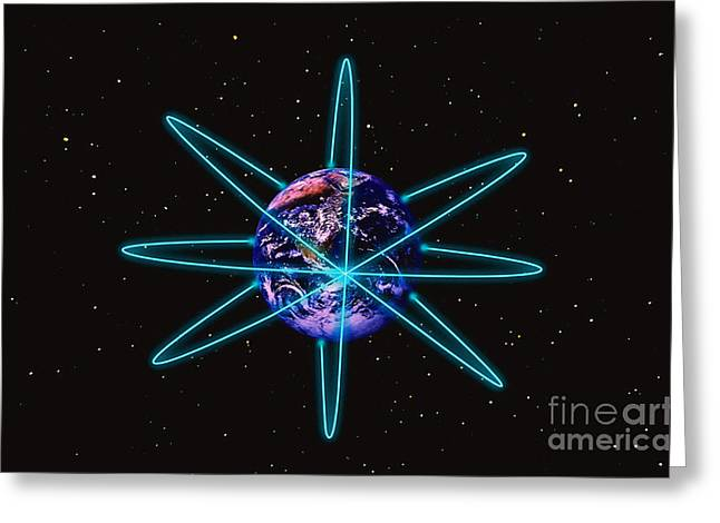 Rings Around The Earth Greeting Card