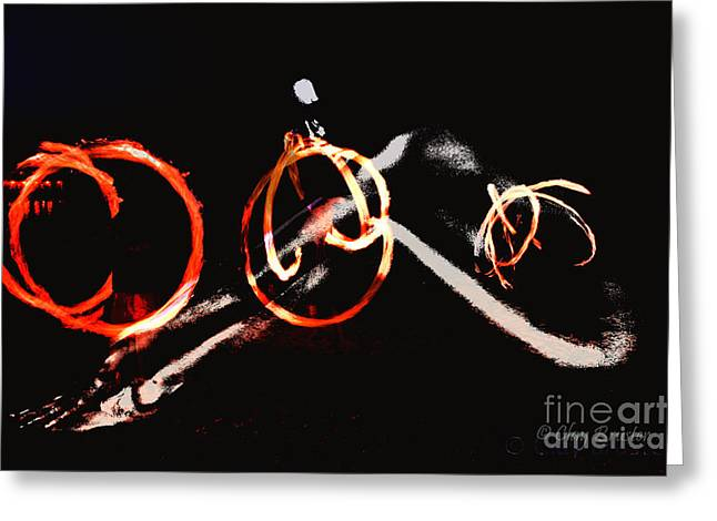 Burning Rings Of Fire Greeting Card by Clayton Bruster