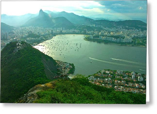 Rio De Janiero. Breathtaking  Greeting Card by Michael Clarke JP