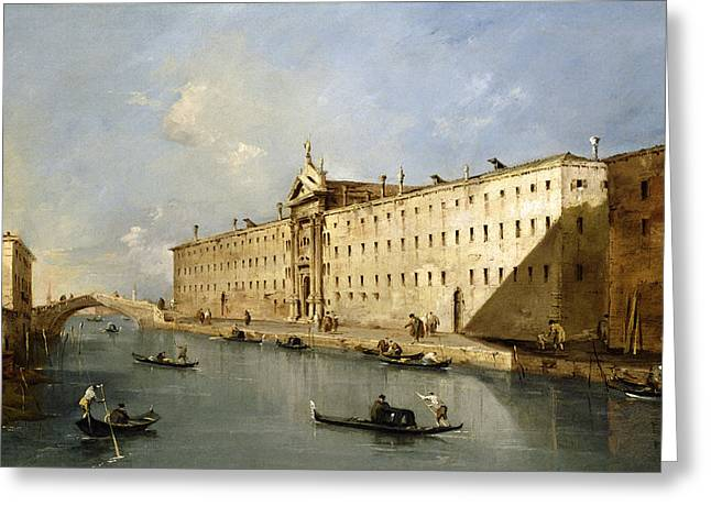 Rio Dei Mendicanti Greeting Card by Francesco Guardi