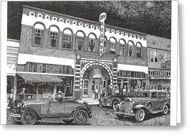 Rio Grande Theater Greeting Card by Jack Pumphrey