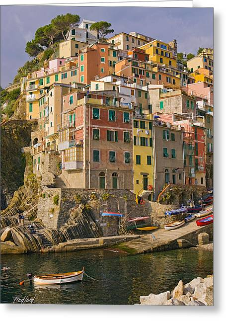 Rio Maggiore Italy Greeting Card by Fred J Lord
