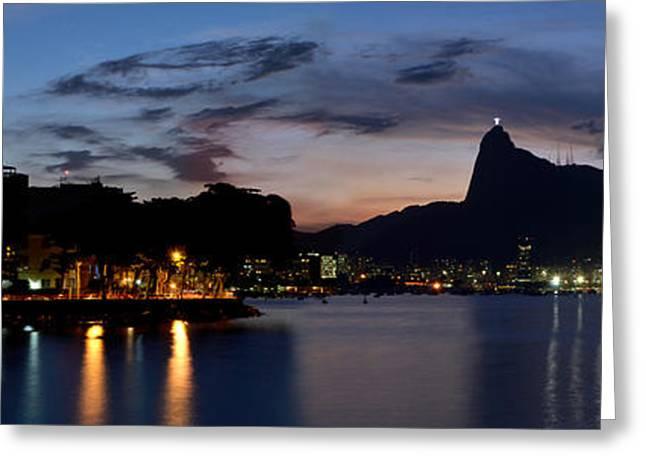 Rio Skyline From Urca Greeting Card