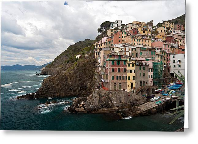 Riomaggiore Greeting Card by Mike Reid