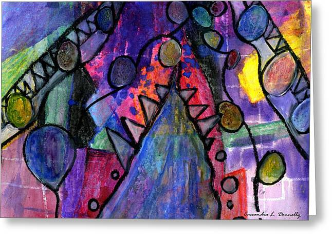 Rising From The Ashes Greeting Card by Cassandra Donnelly