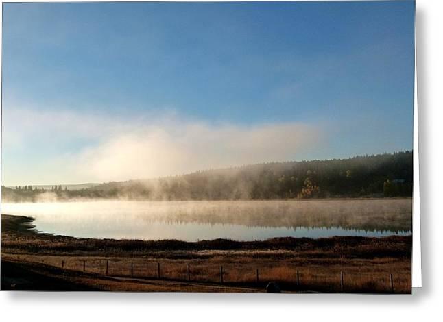 Rising Mist Sunrise Greeting Card